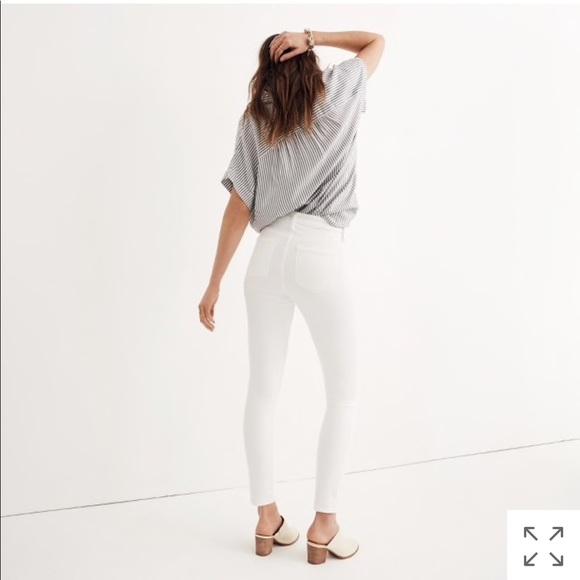 Madewell Highrise Jeans Skinny Pure Tall White Poshmark 9 SrRtPr